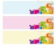 Festliga fyrkanter för färg för modell för vektorbakgrundsjul Royaltyfria Bilder