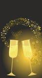 Festliga guld- exponeringsglas Arkivbilder