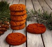 Festliga kakor för jul arkivfoto