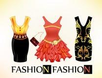 festliga klänningar för tappning för flickor Arkivfoton