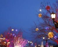 festliga lampor Fotografering för Bildbyråer