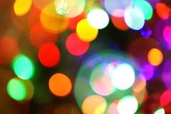 Festliga ljus och cirkelbakgrund Fotografering för Bildbyråer