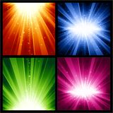 festliga ljusa nya år för julexplosioner Arkivfoto