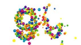 Festliga ljust färgade 99 i mångfärgade bollar royaltyfri illustrationer