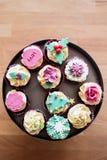 festliga muffiner Fotografering för Bildbyråer