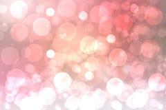 Festliga rosa ljusa abstrakta Bokeh, den defocused färgrika lutningen och pastell färgade Härligt texturera royaltyfri illustrationer