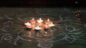 Festliga stearinljusljus Arkivbilder