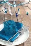 Festligt bordlägga inställningen Royaltyfri Foto