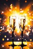 Festligt champagneexponeringsglas Royaltyfri Fotografi