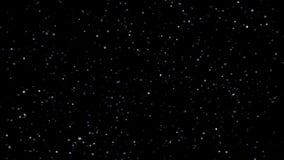 Festligt falla för konfettier Runda konfettier isolerade på en svart bakgrund som ner slätt och långsamt faller Gråa vers 3 stock video