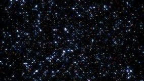 Festligt falla för konfettier Runda konfettier isolerade på en svart bakgrund som ner slätt och långsamt faller Mång- kulört arkivfilmer