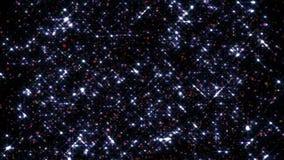 Festligt falla för konfettier Runda konfettier isolerade på en svart bakgrund som ner slätt och långsamt faller Violetta vers 1 stock video