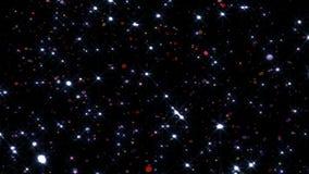 Festligt falla för konfettier Runda konfettier isolerade på en svart bakgrund som ner slätt och långsamt faller Violetta vers 15 lager videofilmer