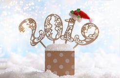 Festligt kort för jul eller för nytt år Royaltyfri Bild