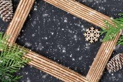 Festligt kort för jul eller för nytt år Feriesammansättning arkivfoto