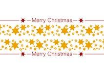 festligt kort Garnering för glad jul med stjärnor stock illustrationer