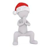 Festligt litet be för man för jul 3d royaltyfri illustrationer