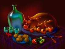 Festlig festmåltid Arkivbild