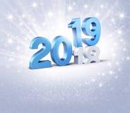 Festligt symbol för lyckligt nytt år 2019 vektor illustrationer