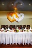 festligt tabellbröllop royaltyfri foto