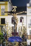 Festmåltid av den heliga veckan eller påsken i staden av Seville royaltyfri fotografi