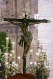 Festmåltid av den heliga veckan eller påsken i staden av Seville royaltyfri foto