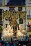 Festmåltid av den heliga veckan eller påsken i staden av Seville royaltyfri bild