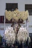 Festmåltid av den heliga veckan eller påsken i staden av Seville arkivbilder