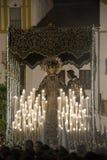 Festmåltid av den heliga veckan eller påsken i staden av Seville royaltyfria foton