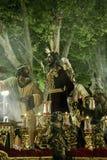 Festmåltid av den heliga veckan eller påsken i staden av Seville arkivfoton