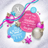 Festmåltid av jul Arkivbild