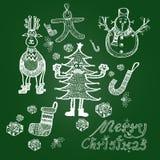 Festmåltid av jul Arkivfoton