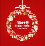 Festmåltid av jul Arkivbilder