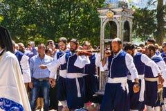 Festmåltiddag av helgonet Gerasimos på Augusti 16th i Kefalonia Grekland arkivbilder