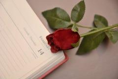 Festmåltidst-valentin gåva för förälskelse för passion för hjärta för festlighet för vänner för dag röd arkivfoto