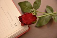 Festmåltidst-valentin gåva för förälskelse för passion för hjärta för festlighet för vänner för dag röd arkivbilder