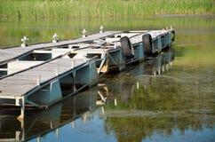 Festmachen für Motorboote Stockbild