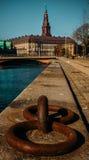 Festmachen nach Kopenhagen stockbilder