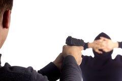 Festnahme der Pistole in der Hand Lizenzfreie Stockbilder