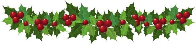 Festão do azevinho do Natal Imagem de Stock Royalty Free