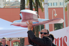 Festo smartbird. Flew in the 2011 edition of the festival of the knowledge of Genoa in collaboration with Focus stock image