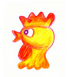 Feston d'or de jeune coq Illustration Stock