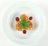 Feston de gingembre de sésame avec de la sauce à hoisin images libres de droits