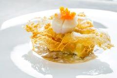 Feston du Hokkaido avec de la sauce à chair de crabe Photographie stock