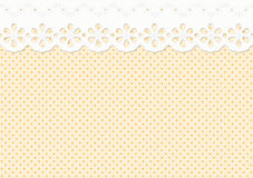 Feston / ornament on spotted pattern - endless Stock Image