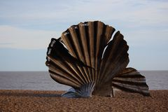 Feston, par l'artiste Maggi Hambling du Suffolk Photographie stock