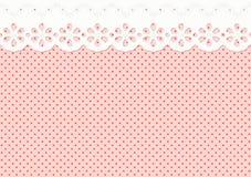 Feston/Verzierung auf dem beschmutzten Muster - endlos Lizenzfreies Stockbild