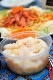 Festons crus et salade de poissons crus Image libre de droits
