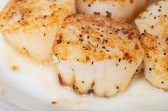Festons de mer géants frits par casserole images stock