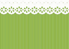 Festoon decoration on lined pattern - seamless Stock Photography